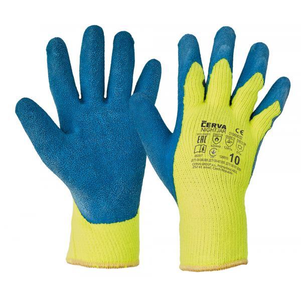 Tepelné riziká NIGHTJAR blistr ruk.zimné,polomáč.latex