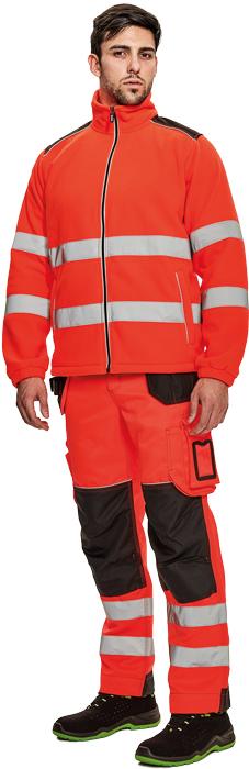 Výstražné odevy KNOXFIELD HI-VIS fleecová bunda