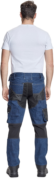 Nohavice do pása,Nohavice s náprsenkou NEURUM DENIM nohavice
