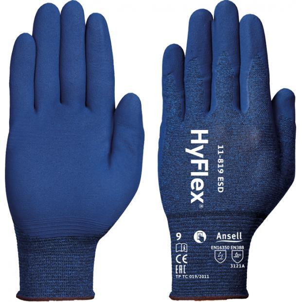 Špeciálne riziká Ansell 11-819 ESD Hyflex rukavice
